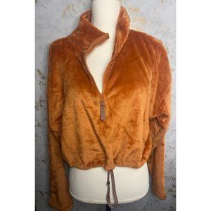 Urban Outfitters Burnt Orange Cropped Teddy